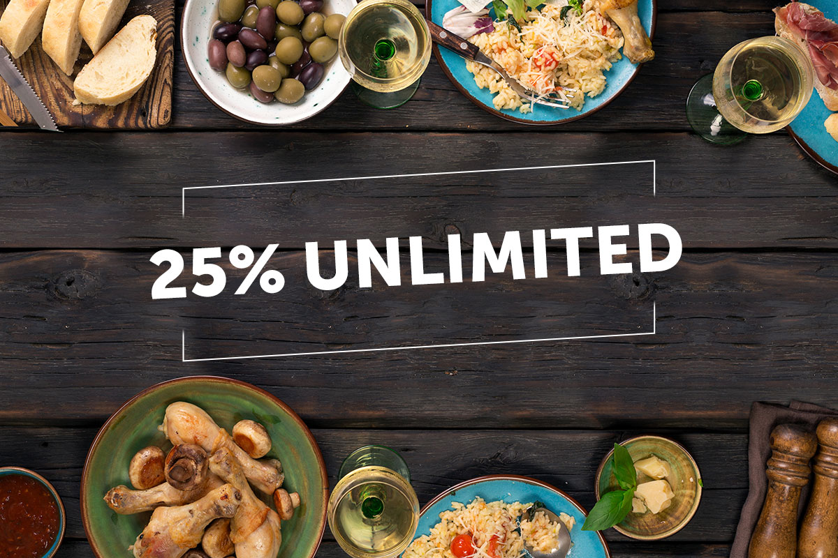 Get 25% off your total bill in Oman!
